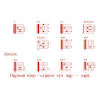 Открытка Гитарный аккомпанемент песни «ПЕРВЫЙ ВЗОР»