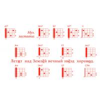 Открытка Гитарный аккомпанемент песни «ВЛЕЧЕНЬЕ ВЕЧНОЕ СЕРДЕЦ»