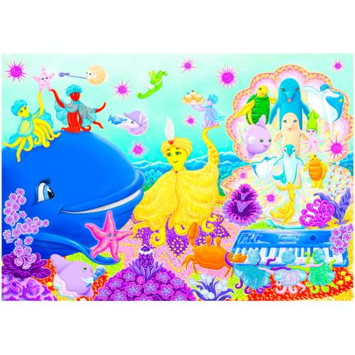 Цветная иллюстрация к песне «ДЕНЬ ВСЕМОРСКИЙ ОСЬМИНОГА»