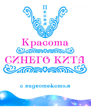 Песня *КРАСОТА СИНЕГО КИТА*, с видеотекстом. DVD
