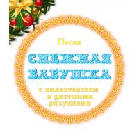 Песня *СНЕЖНАЯ БАБУШКА*, с видеотекстом и цветными рисунками (выпуск 4). DVD
